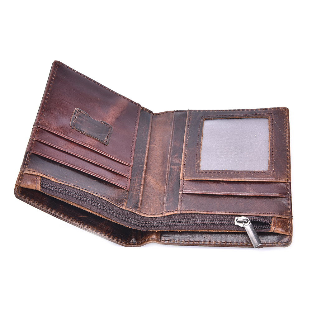 Dompet Kulit Pria Oil Wax Cowhide Leather Brown Jakartanotebook Com