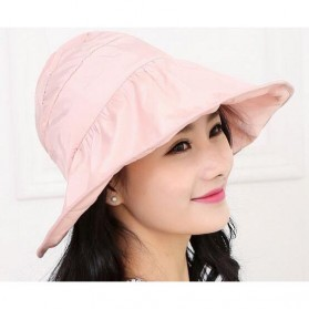 Topi Pantai Wanita Anti UV - Pink