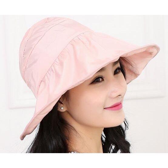 Topi Pantai Wanita Anti UV - Pink - JakartaNotebook.com 16e68285d1