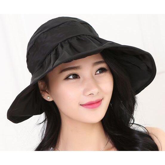 Topi Pantai Wanita Anti UV - Black - JakartaNotebook.com d7706dcf0b