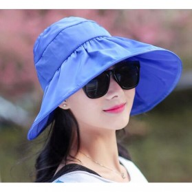 Topi Pantai Wanita Anti UV - Blue