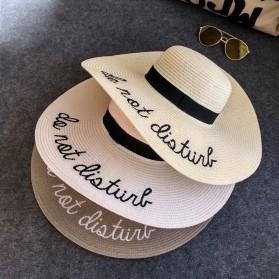 Topi Panama Wanita Anti UV - White - 2