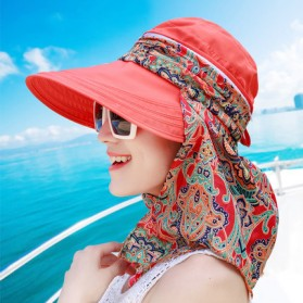 Topi Wanita Anti UV Summer Style - Orange