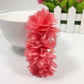 Karet Ikat Rambut Model Flower 1PCS - Pink
