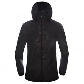 LENTHIMEN Jaket Olahraga Quick-dry Windbreaker Size XL - WY-01 - Black