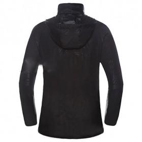 LENTHIMEN Jaket Olahraga Quick-dry Windbreaker Size XL - WY-01 - Black - 2
