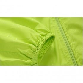 LENTHIMEN Jaket Olahraga Quick-dry Windbreaker Size XL - WY-01 - Black - 5