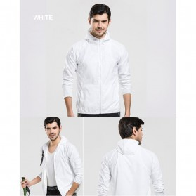 LENTHIMEN Jaket Olahraga Quick-dry Windbreaker Size XL - WY-01 - Black - 10