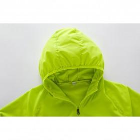 LENTHIMEN Jaket Olahraga Quick-dry Windbreaker Size XL - WY-01 - Black - 6