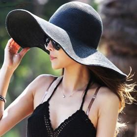 Topi Wanita Anti UV Elegant Style - Black