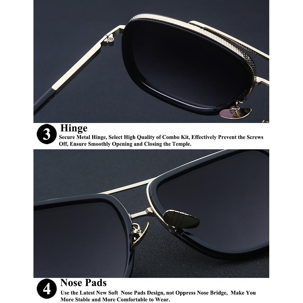 Kacamata Wanita Retro Anti UV - Black - 7 .