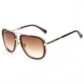 Kacamata Wanita Retro Anti UV - Brown