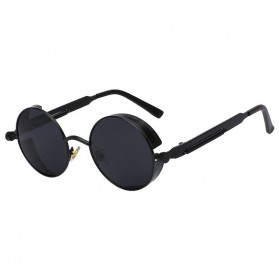 Kacamata Wanita Steampunk Polarized - NE60 - Black - 1