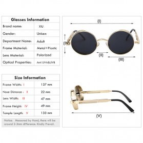Kacamata Wanita Steampunk Polarized - NE60 - Black - 2