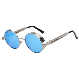 Kacamata Wanita Steampunk Polarized - Silver Blue