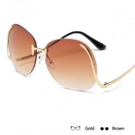 Kacamata Wanita Gradient Anti UV - Golden - 2