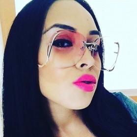 Kacamata Wanita Gradient Anti UV - Golden - 3