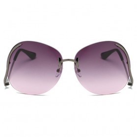 Kacamata Wanita Gradient Anti UV - Golden - 6