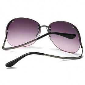 Kacamata Wanita Gradient Anti UV - Golden - 7