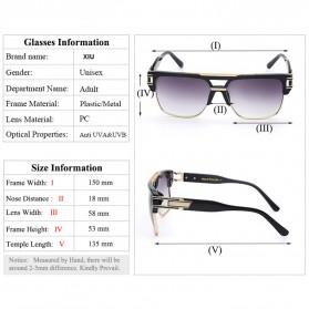 XIU Kacamata Wanita Anti UV - 9-1-6626 - Black/Silver - 6