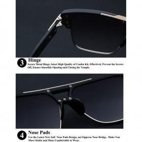 XIU Kacamata Wanita Anti UV - 9-1-6626 - Black/Silver - 8