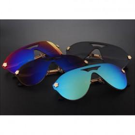 Kacamata Wanita Anti UV Star Model - Golden/Gray - 4