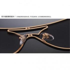 Kacamata Wanita Anti UV Star Model - Golden/Gray - 7