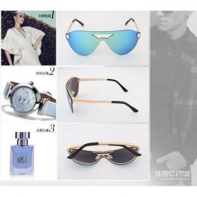 Kacamata Wanita Anti UV Star Model - Golden/Gray - 9