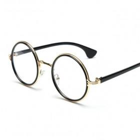 Frame Kacamata Wanita Retro - Black Gold - 4