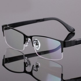 Frame Kacamata Half Frame - Black