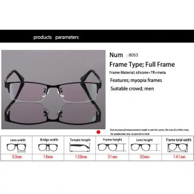 Frame Kacamata Half Frame - Black - 2