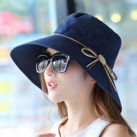 Daddy Chen Topi Elegan Wanita Anti UV - 1808005 - Blue