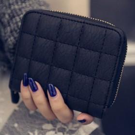 Dompet Kulit Wanita Desain Vintage - Black
