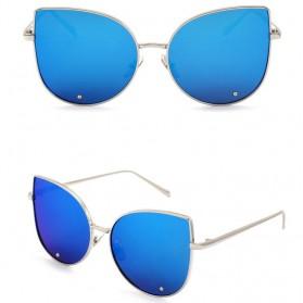 Kacamata Wanita Model Cat Eye - Golden/Blue - 2