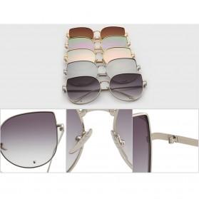 Kacamata Wanita Model Cat Eye - Golden/Blue - 4
