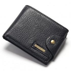 Baellerry Dompet Pria Bahan Kulit Model Horizontal - Black