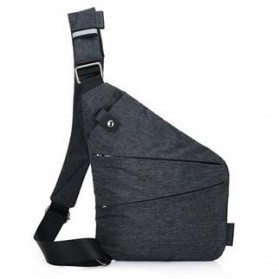 Tas Selempang Crossbody Bag Multifungsi Bahu Kanan - 6016 - Dark Gray