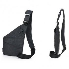 Tas Selempang Crossbody Bag Multifungsi Bahu Kanan - 6016 - Dark Gray - 2