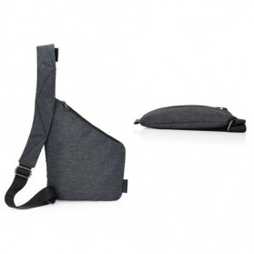Tas Selempang Crossbody Bag Multifungsi Bahu Kanan - 6016 - Dark Gray - 3