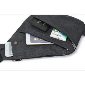 Tas Selempang Crossbody Bag Multifungsi Bahu Kanan - 6016 - Dark Gray - 6