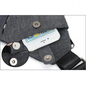 Tas Selempang Crossbody Bag Multifungsi Bahu Kanan - 6016 - Dark Gray - 7