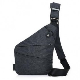Tas Selempang Crossbody Bag Multifungsi Bahu Kiri - 6016 - Dark Gray