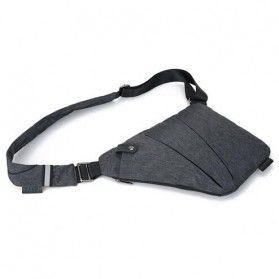 Tas Selempang Crossbody Bag Multifungsi Bahu Kiri - 6016 - Dark Gray - 4
