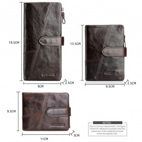 Dompet Kulit Clutch Pria Model Long - Brown - 3