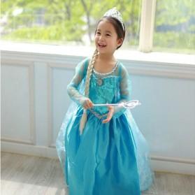 Frozen Elsa Baju Cosplay Anak Size 120 - Z003 - Blue - 3