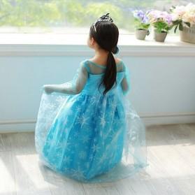 Frozen Elsa Baju Cosplay Anak Size 120 - Z003 - Blue - 4