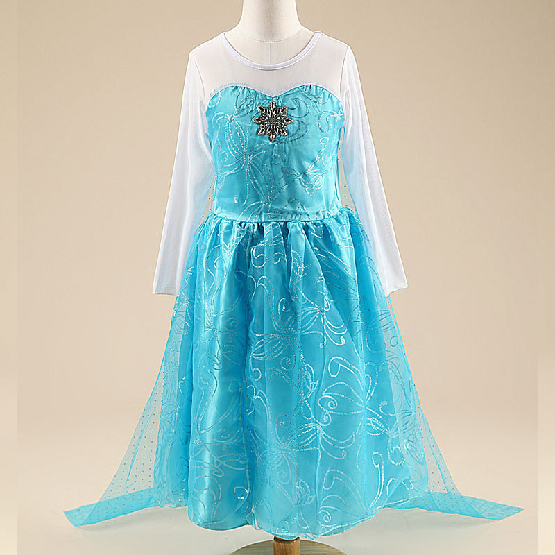 Frozen Elsa Baju Cosplay Anak Size 100 Z006 Blue