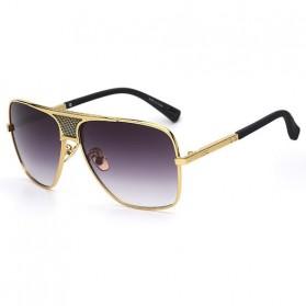 Kacamata Vintage  Oversize Wanita - Golden/Gray
