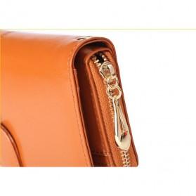 Dompet Wanita Model Kulit - Brown - 4