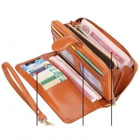 Dompet Wanita Model Kulit - Brown - 6